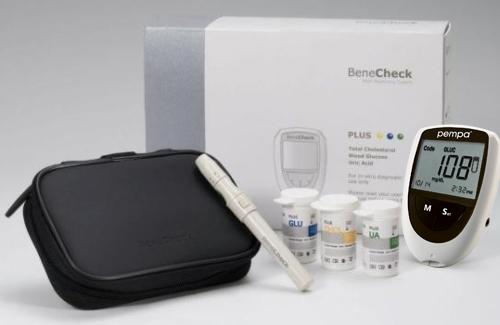 Pempa 3w1 urządzenie do pomiaru glukozy, kwasu moczowego i cholesterolu we krwi